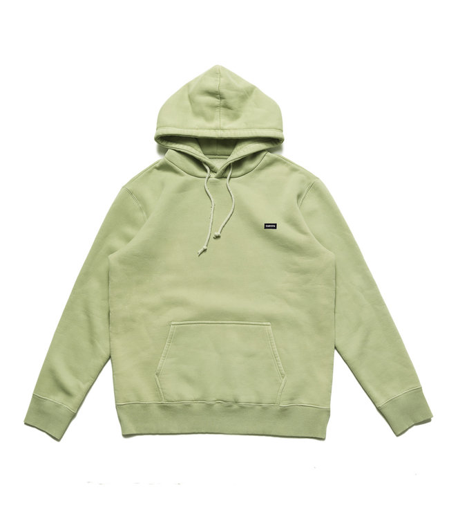 Chrystie Small Logo Patch Hoodie_Weed Green