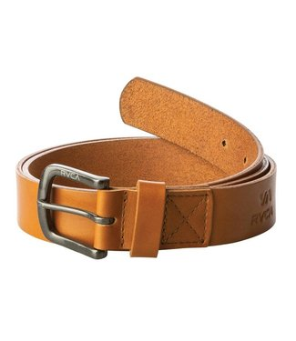 RVCA Truce Leather belt TAN S/M