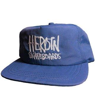 Heroin script navy nylon snapback