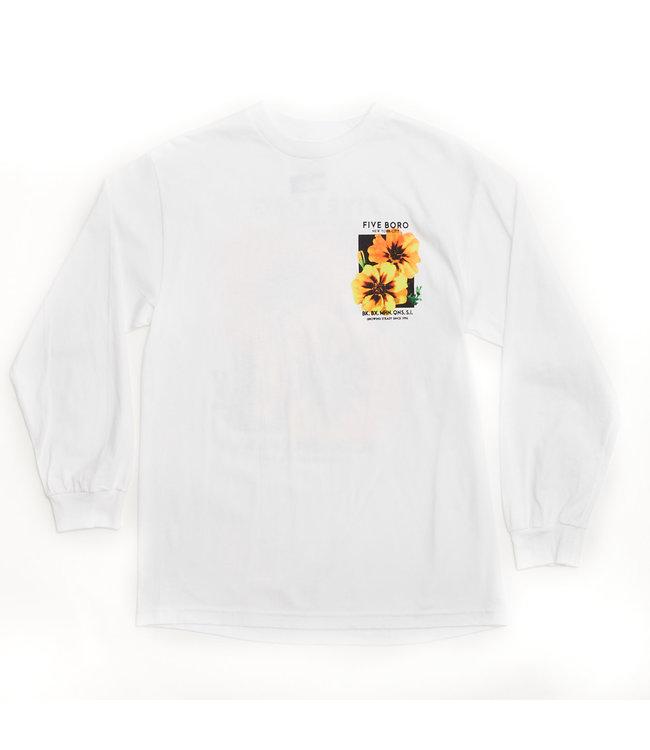 5Boro Yellow Flower Tee L/S White