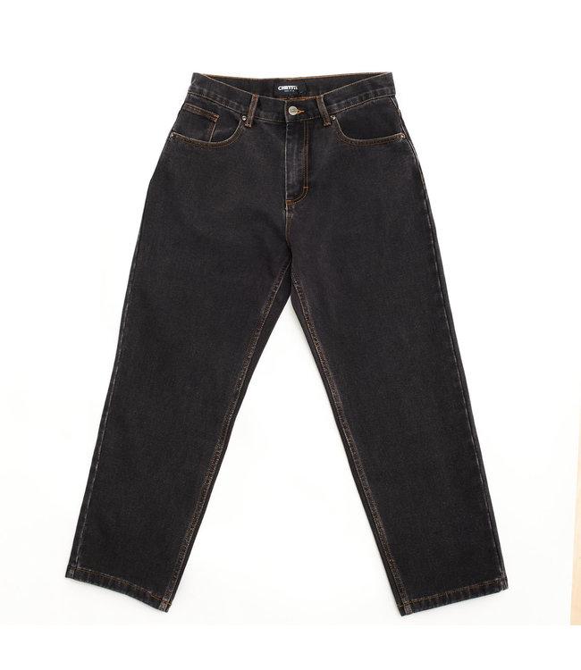 Chrystie Washed Denim Baggie Pants_Black