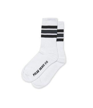 Polar Polar Stripe Socks  White/Black/Grey 35-40