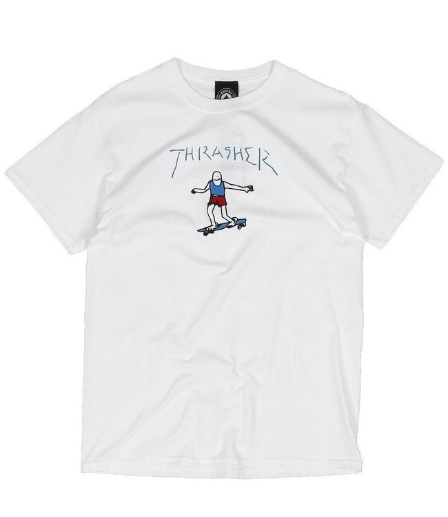 Thrasher Gonz  Logo Tee White