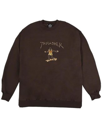 Thrasher Gonz Logo Crew Brown