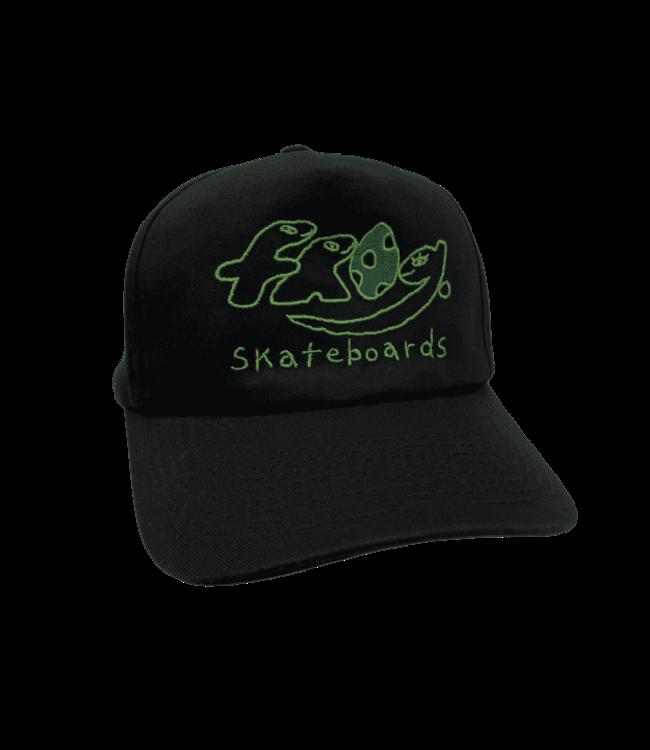 Frog Dino Logo 5-Panel Black