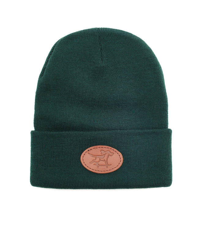 Dog Gone Studios Leather Patch Beanie Forest