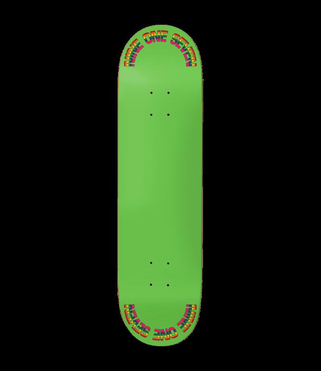 917 Deck  Rainbow Green Slick 8.5