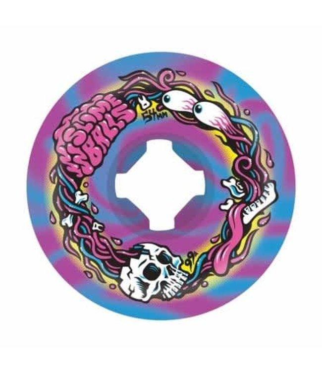 Slime Balls 54mm Brains Speed Balls Blue Purple Swirl 99a
