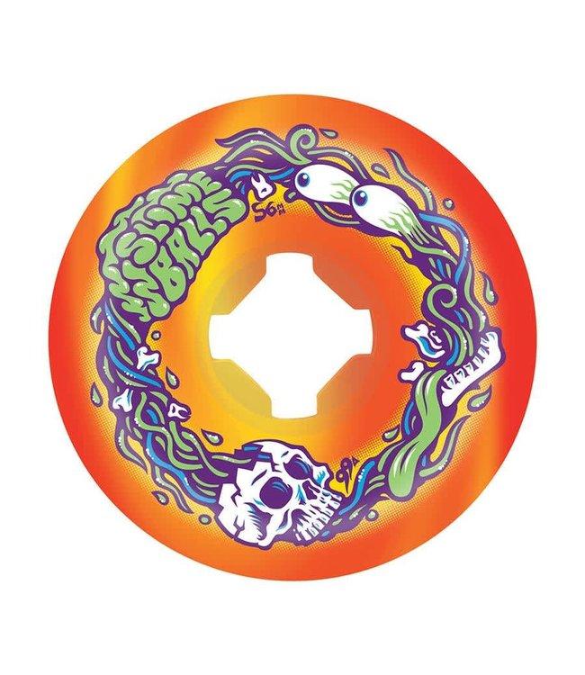 Slime Balls 56mm Brains Speed Balls Orange Yellow Swirl 99a