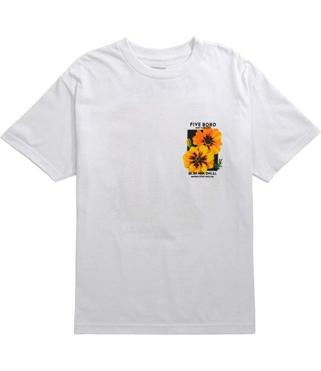 5Boro Yellow Flower Tee White