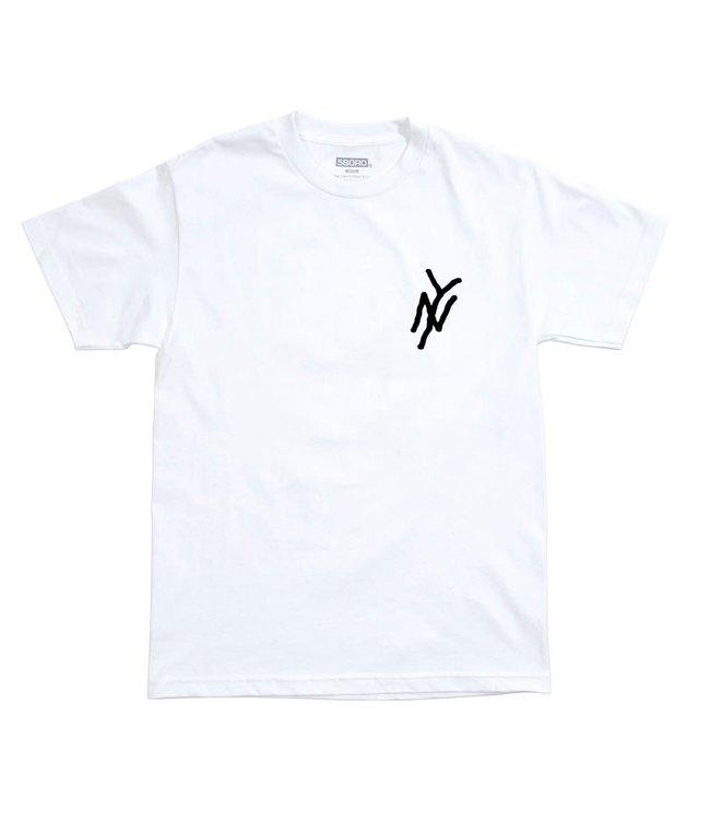 5Boro  NY Logo Tee White