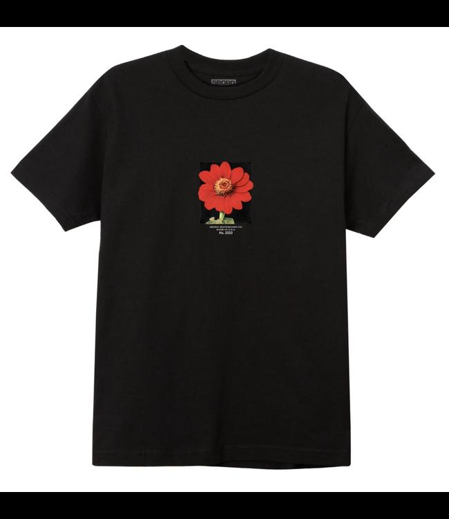 5Boro Red Flower Tee Black