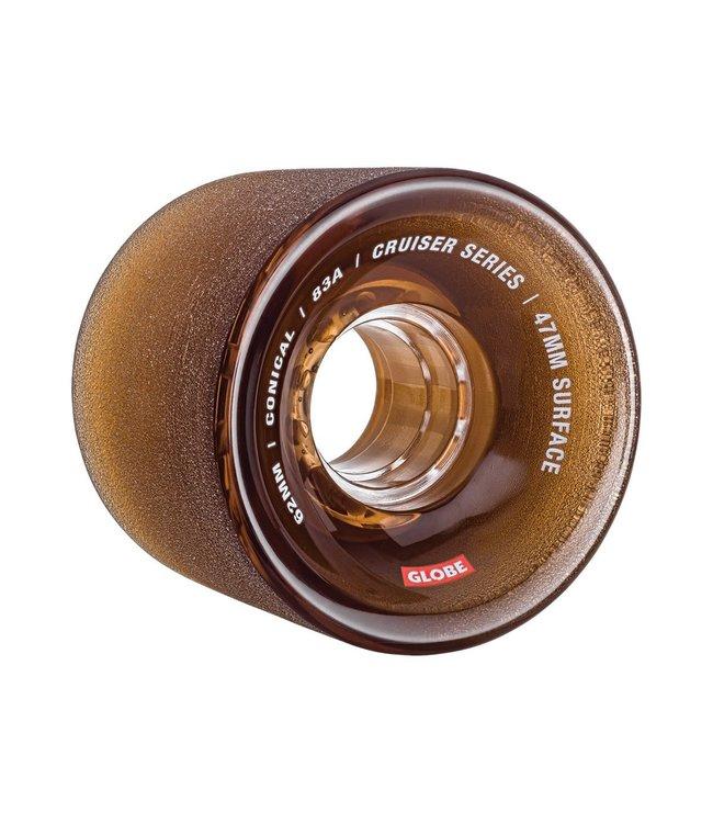 Globe Conical Cruiser Wheel Clear Coffee 62