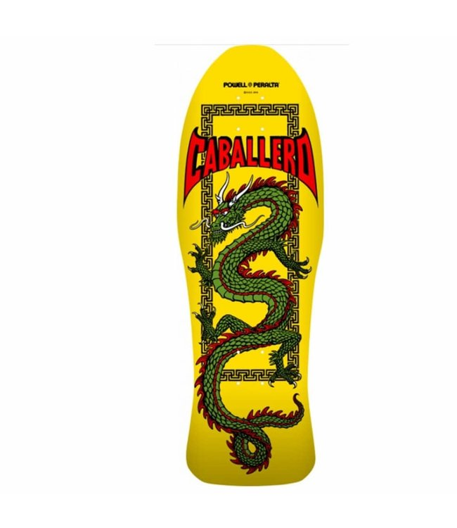 Powell Peralta Cab Chin Dragon 15 Reissue Deck Yellow 10.0