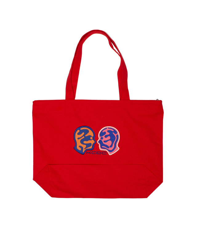 KCDC Double Face Tote Red
