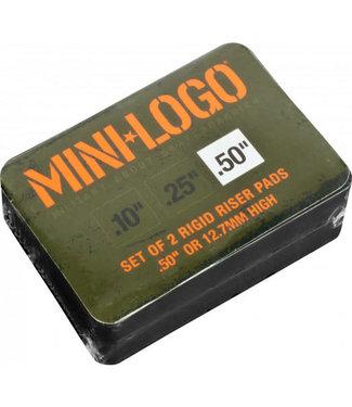 Mini Logo Rigid Riserpads Black .50 – 2pak
