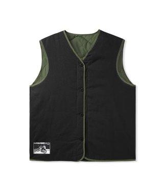 Butter Goods Butter Goods Gore Reversible Vest Pullover Jacket Army/Black
