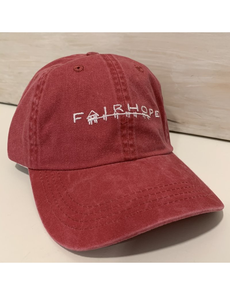 The Fairhope Store Youth Cap, Red, Velcro FH