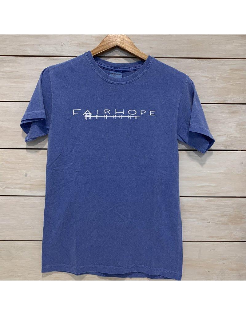 The Fairhope Store Short Sleeve Brush Stroke Pier Tee