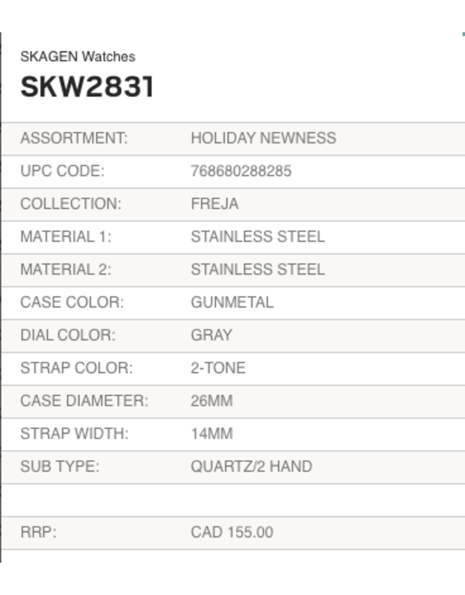Skagen SKW2831 Freja