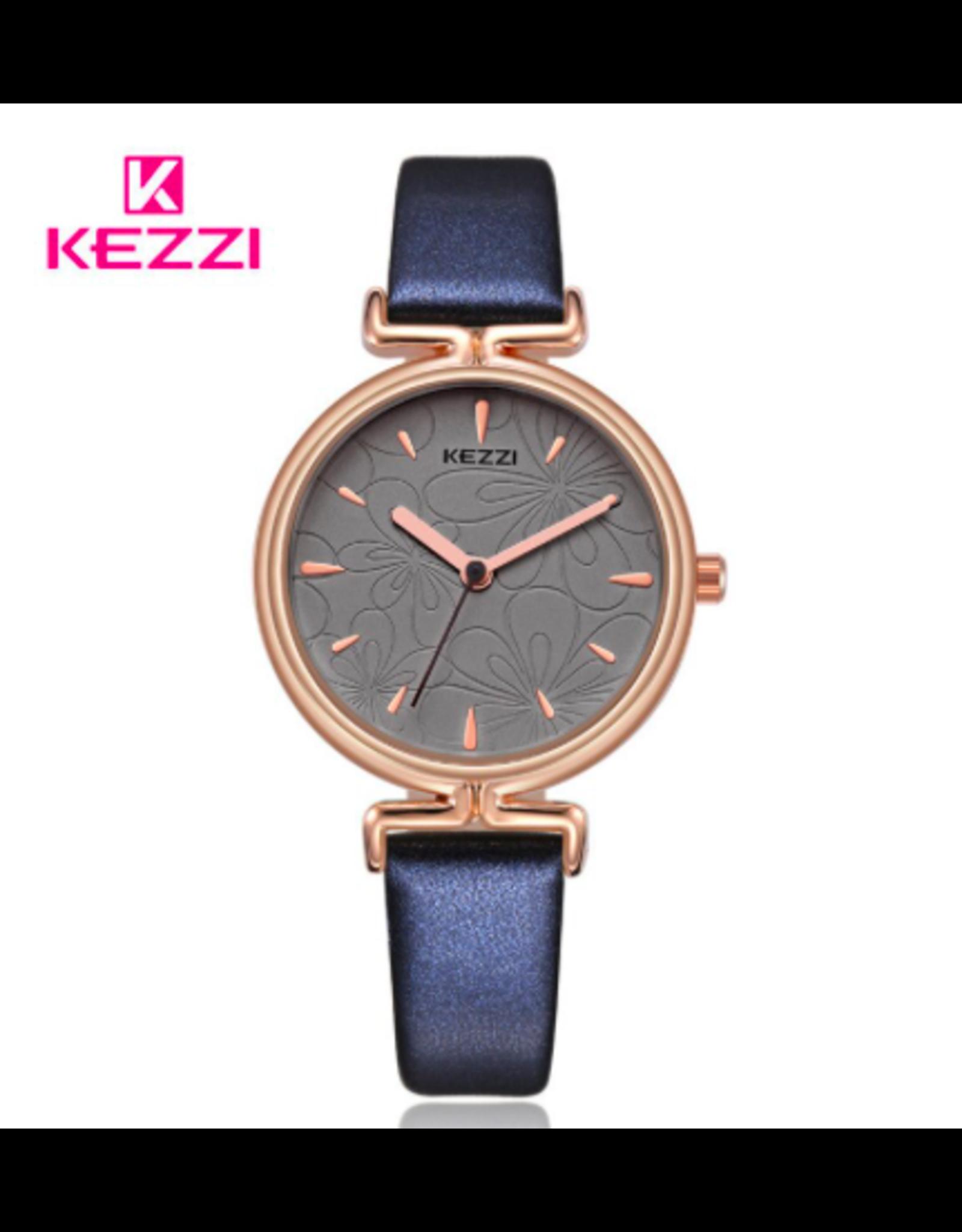 Kezzi Kezzi cuir bleu