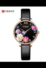 Curren Curren Cuir Noir + Fleurs (petite)