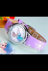 Fashion watch La reine des neiges cuirette mauve