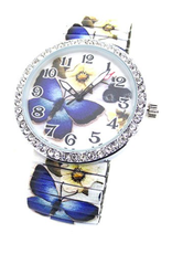 ZJ Extensible Papillons Bleus (Grosse)