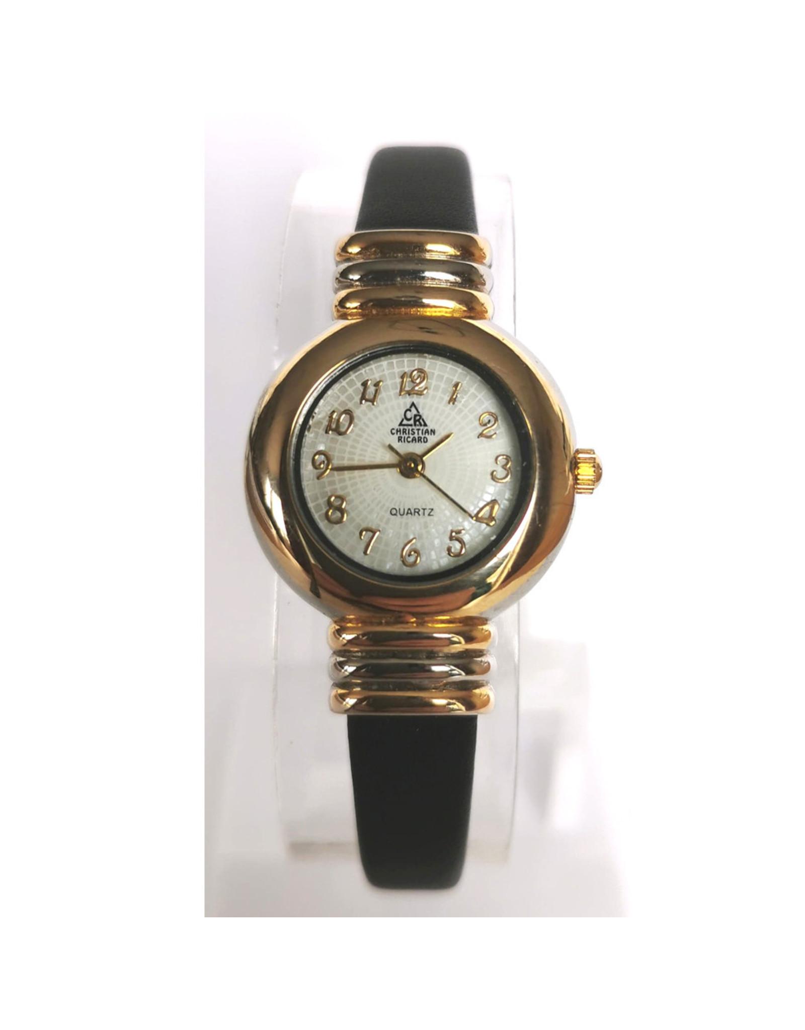 Christian Ricard 2 tons bracelet cuir noir
