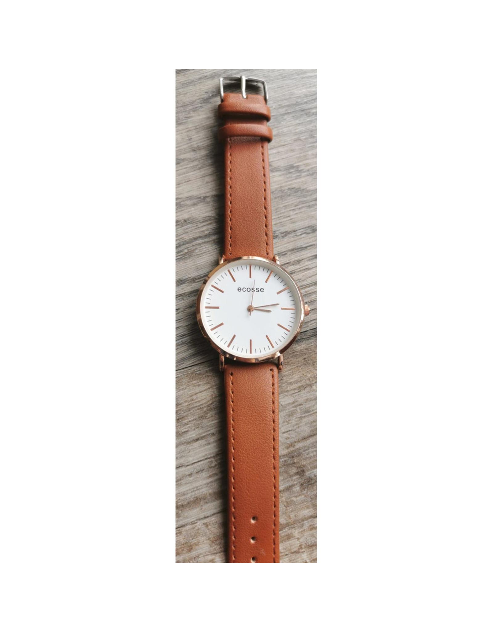 Écosse 1933- Or rose bracelet cognac Style DW