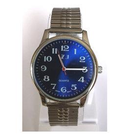 ZJ Collection Fond bleu, bracelet argent ZJ-1.3