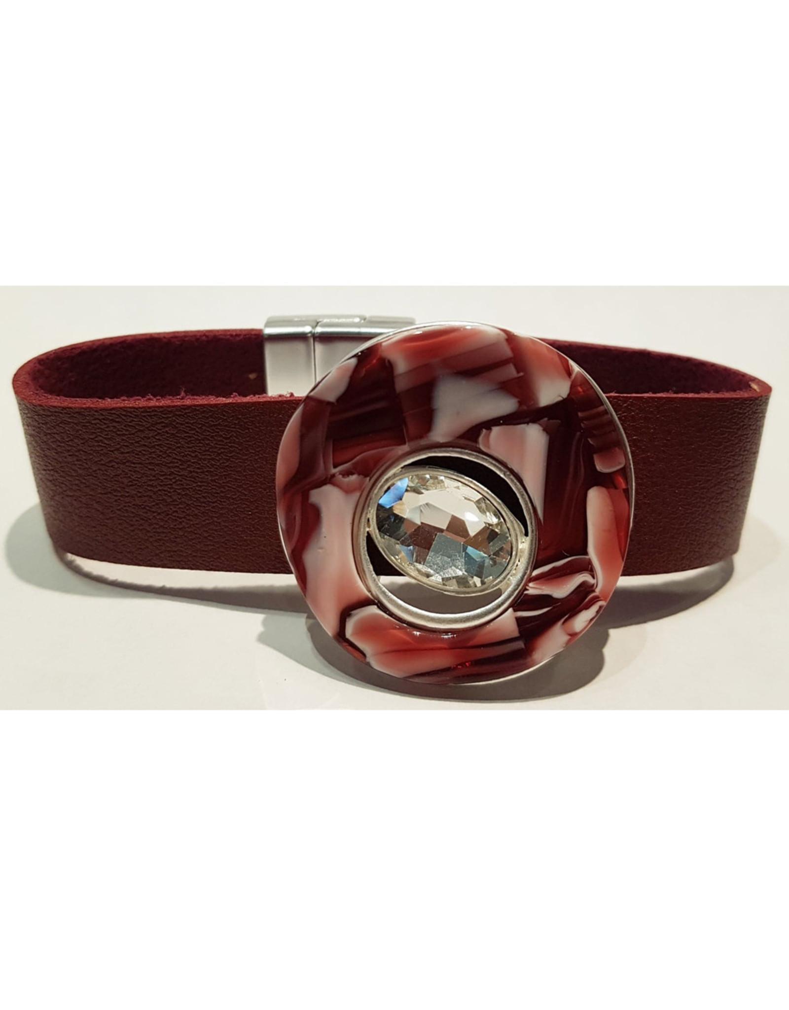Bracelet Cuir Bourgogne