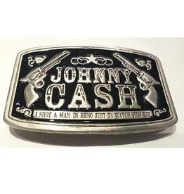Boucle Johnny Cash Rectangle noir (B58)