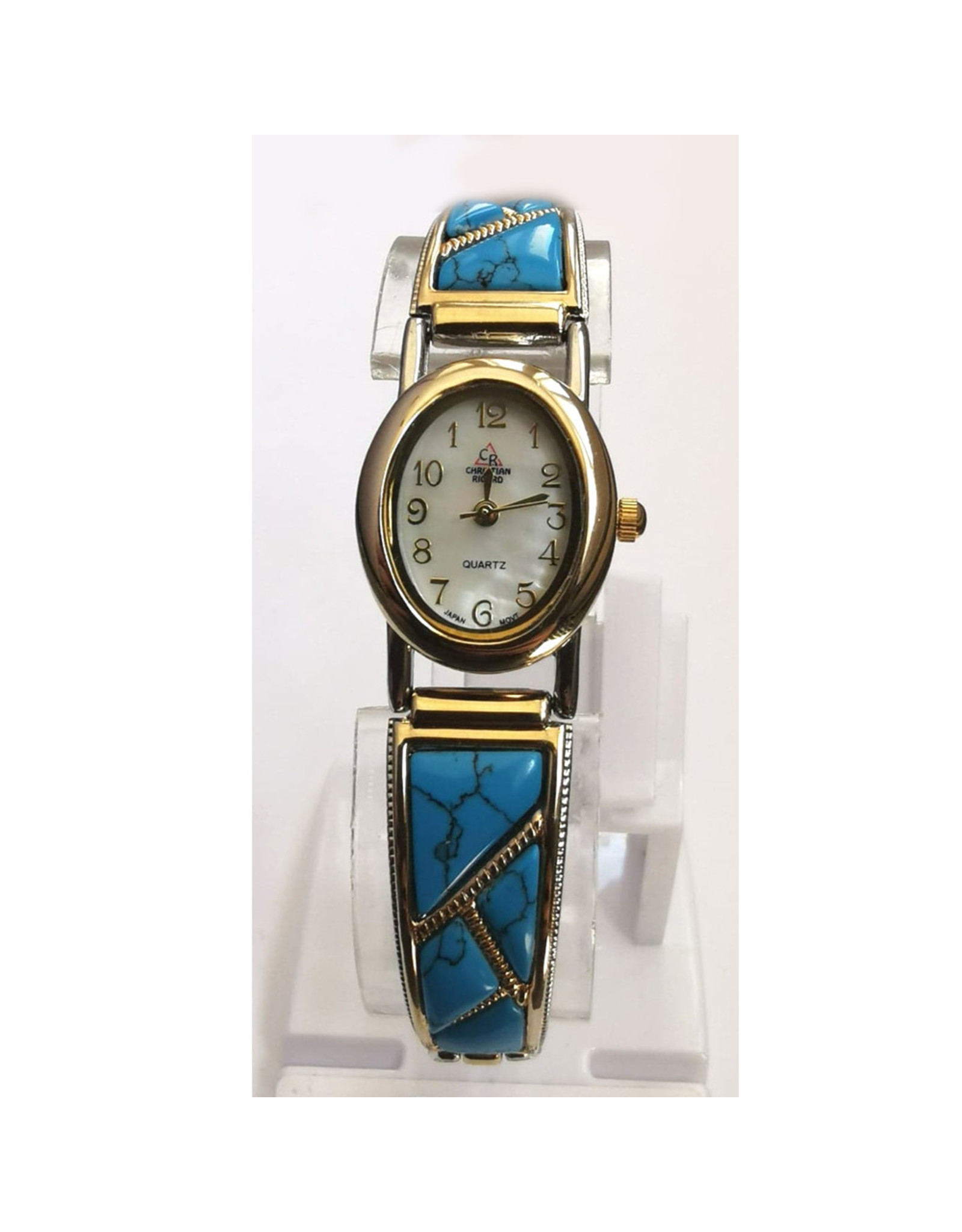 Christian Ricard Turquoise ovale deux tons