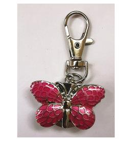 Porte-clés Papillon rose