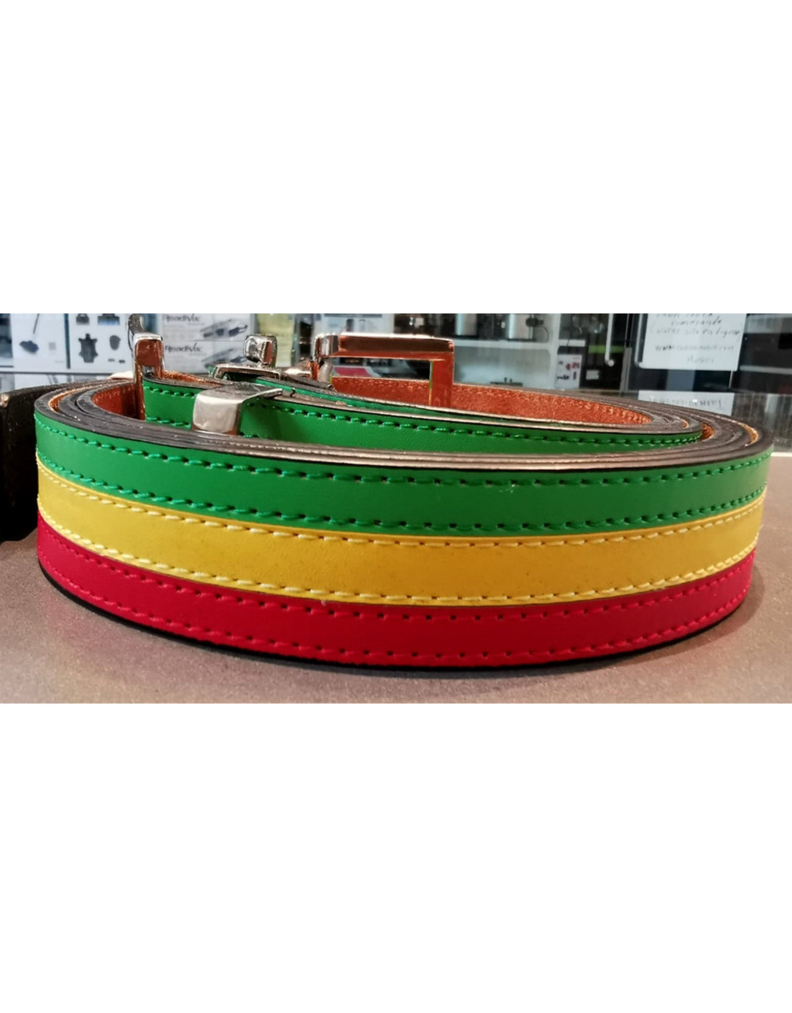 Ceinture Green, Yellow, Red Stripes (5053)