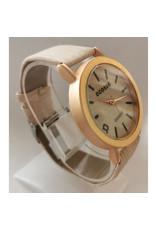 Écosse Grosse or rose bracelet beige faux bois