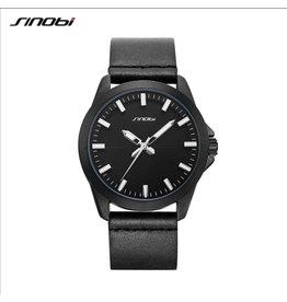 Sinobi Boîtier noir, bracelet noir