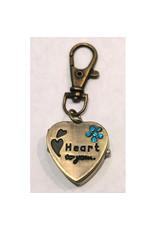 Porte-clés Coeur bronze