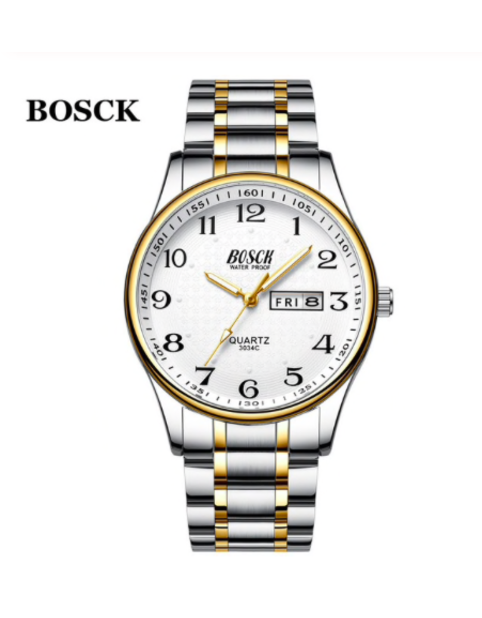 Bosk Deux tons, fond blanc, date