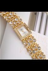 G&D Carrée bling bling or