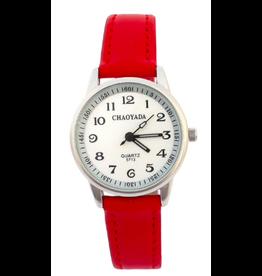 Chaoyada Bracelet rouge, fond blanc, chiffres