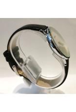 Écosse Bracelet noir, fond blanc chiffres, mince