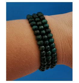 Bracelet Bracelet billes en bois vert