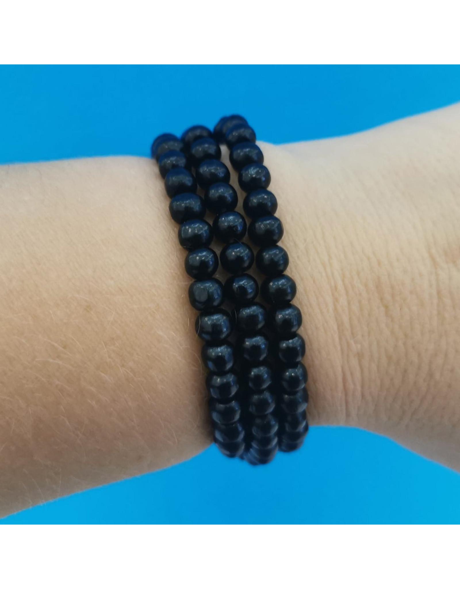Bracelet Bracelet de billes en bois noires
