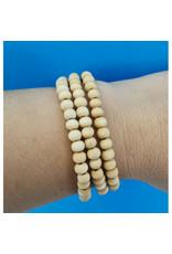 Bracelet Bracelet billes en bois naturel