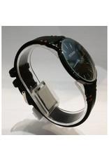 Écosse Style DW noir, bracelet avec 2 coutures brunes
