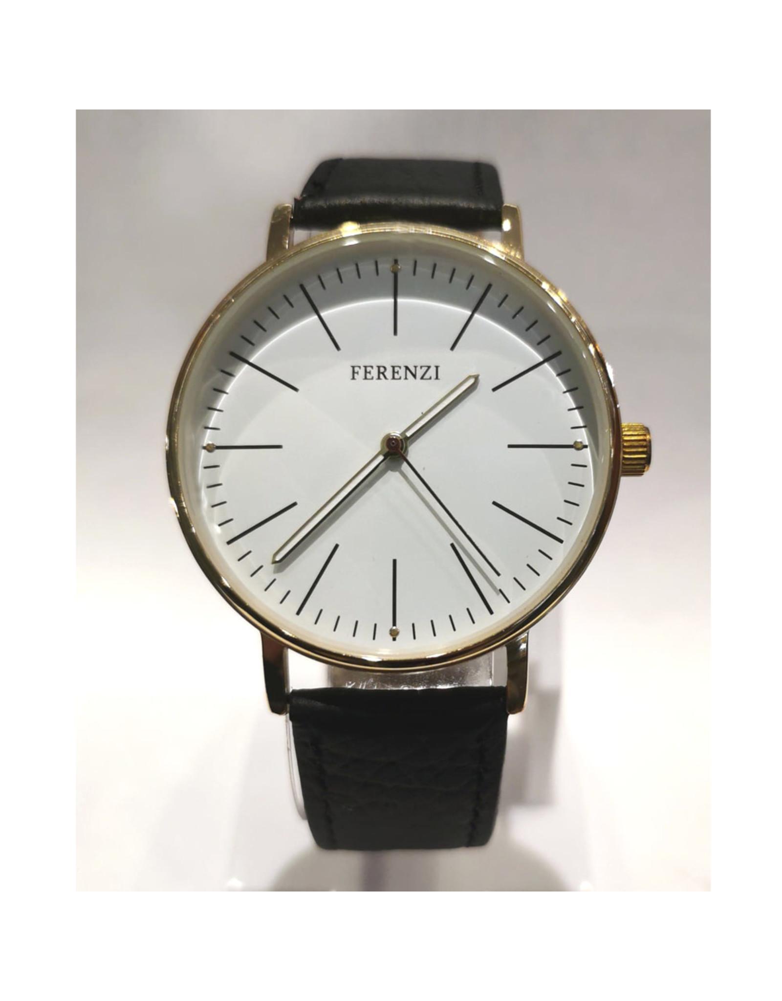 Ferenzi Contour or, bracelet noir style DW