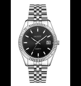 Gaiety Style Rolex argent fond noir