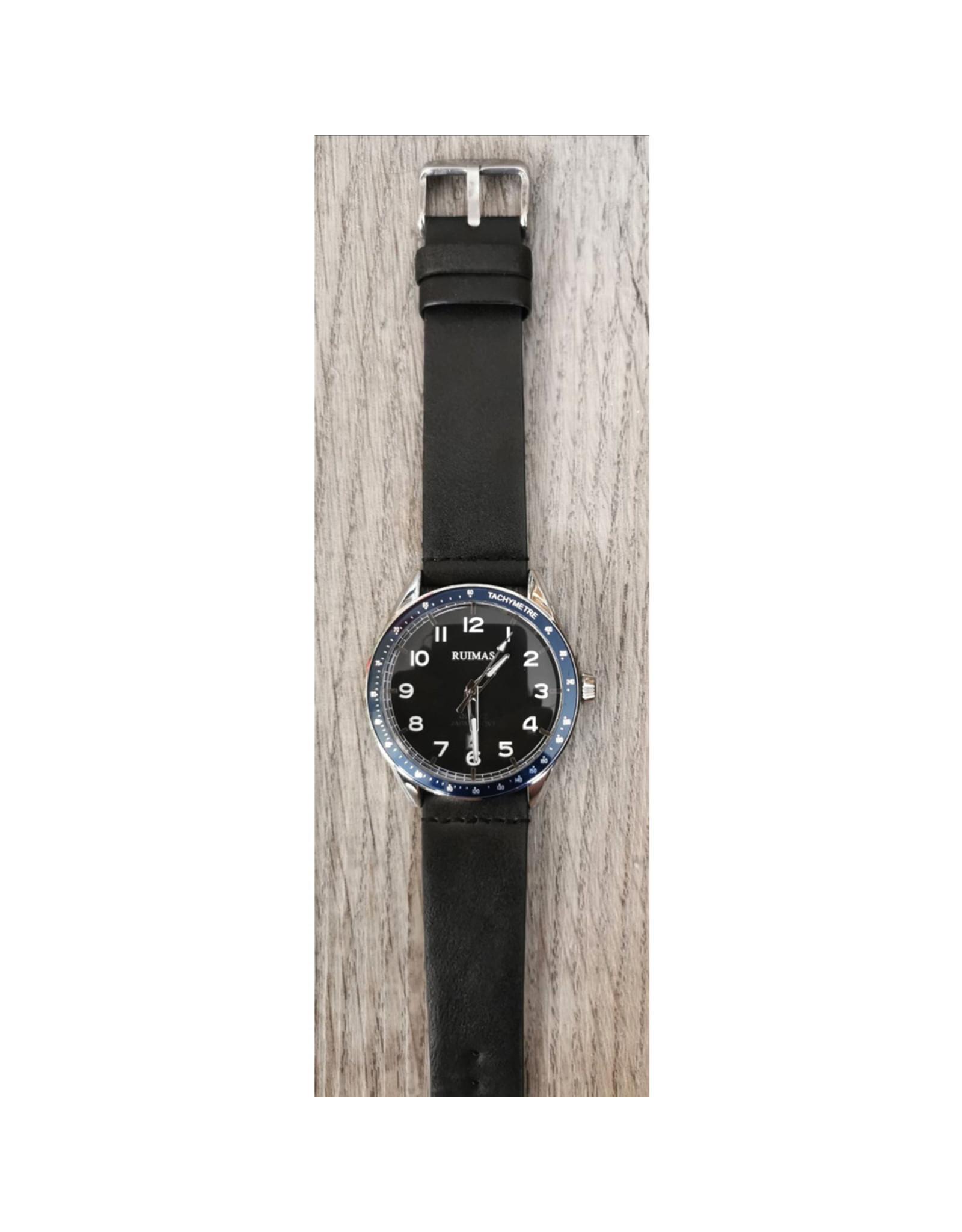 Ruimas Bracelet noir, fond bleu marin